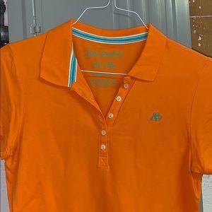 Aeropostale Orange Collared Shirt